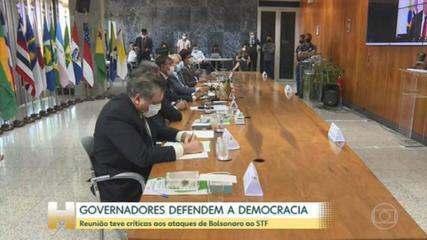 Reunião do Fórum Nacional de Governadores teve críticas aos ataques de Bolsonaro ao STF