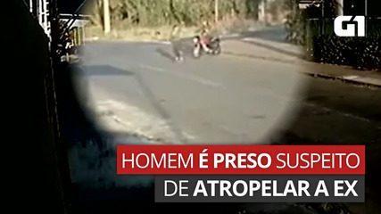 Jovem é preso suspeito de atropelar a ex-namorada de propósito em Aparecida de Goiânia