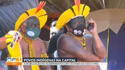 Em Brasília, indígenas de 170 etnias aguardam julgamento do STF sobre demarcação de terras