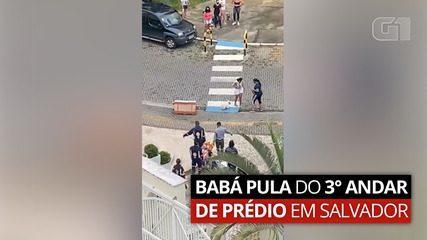 Babá se joga de 3° andar de prédio em Salvador; polícia investiga cárcere privado cometido