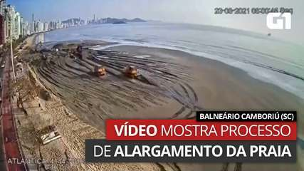 Processo de alargamento de praia em Balneário Camboriú (SC)