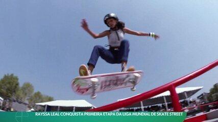 Rayssa Leal conquista primeira etapa da Liga Mundial de Skate Street