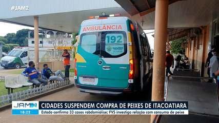 Cidades suspendem compra de peixes de Itacoatiara após casos de síndrome