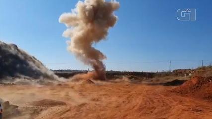 Gate destrói explosivos espalhados por quadrilha em Araçatuba