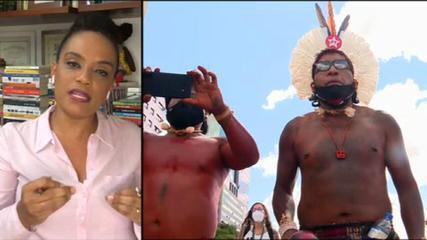 Flávia: 'Chamou atenção a forma com que Aras se posicionou a favor dos indígenas'