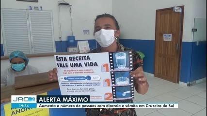 Cruzeiro do Sul entra em alerta por causa de número de pessoas com diarreia e vômito