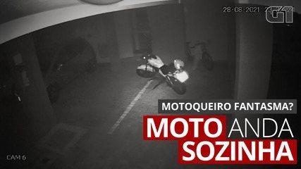 Vídeo de moto andando sozinha em estacionamento de Londrina viraliza; ASSISTA