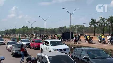 Manifestantes fazem atos a favor de Bolsonaro em Porto Velho