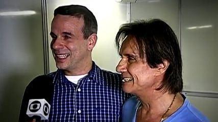 Relembre momento de Roberto Carlos com o filho Dudu Braga