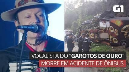 """Vocalista do """"Garotos de Ouro"""" morre em acidente de ônibus em SC"""