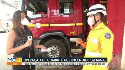 Operação de combate a incêndios é montada em MG