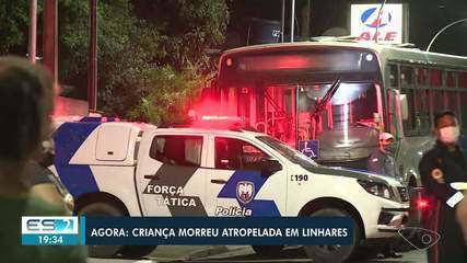 Criança morre atropelada por ônibus em Linhares