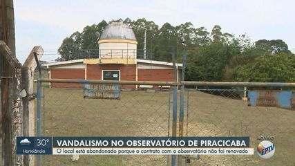 Com sinais de abandono, Observatório Astronômico de Piracicaba vira alvo de vandalismo