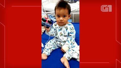 Bebê recebe alta após ficar com bala alojada no abdômen em Manaus