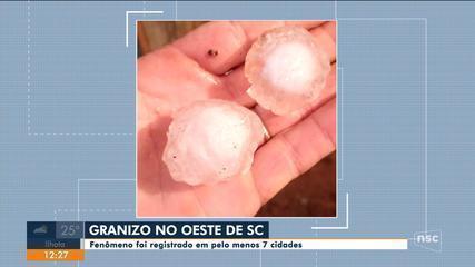 Chuva de granizo é registrada em pelo menos 7 cidades