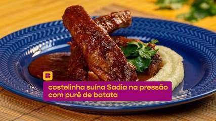 Costelinha suína na pressão com purê de batata: veja a receita