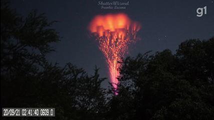 'Jato gigante' é registrado por fotógrafo Frankie Lucena em Cabo Rojo, Porto Rico