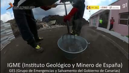 Amostra de rocha vulcânica faz água ferver instantaneamente