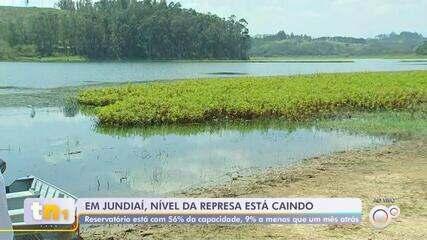 Nível da represa de Jundiaí cai quase 10% em apenas um mês