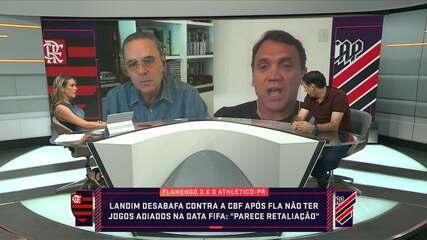 Comentaristas falam sobre calendário brasileiro e desabafo de Landim contra CBF