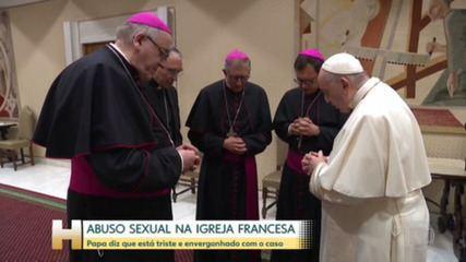 Papa Francisco se diz envergonhado por Igreja não ter priorizado vítimas de abuso na França