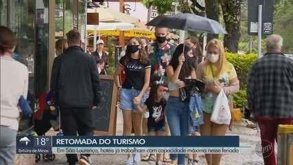 São Lourenço tem primeiro feriado com hotéis autorizados a operar com 100% de ocupação
