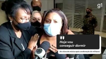 'Hoje vou conseguir dormir', diz viúva de músico após condenação de militares no Rio