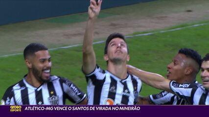 Atlético-MG vence o Santos de virada no Mineirão