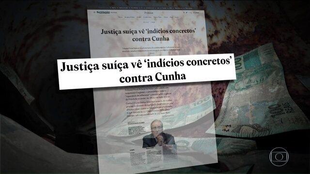 Documento suíço mostra o caminho da propina que Cunha teria recebido