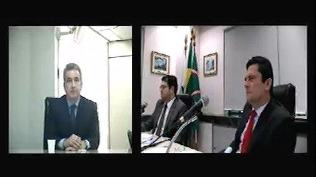 O advogado Mauricio Roberto de Carvalho Ferro, ex-diretor jurídico da Brasken e da Odebrecht, prestou depoimento na condição de testemunha. Imagens: Justiça Federal.