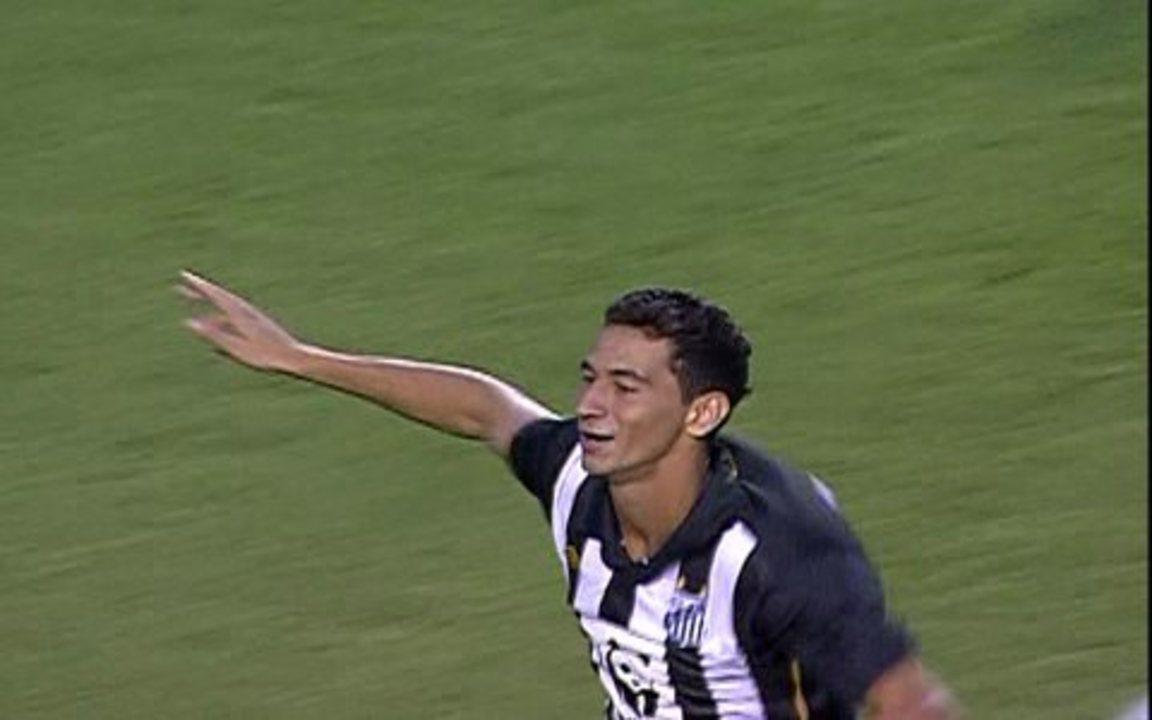 Gol do Santos ! Paulo Henrique acerta belo chute de fora da área e abre o placar, aos 2 1º
