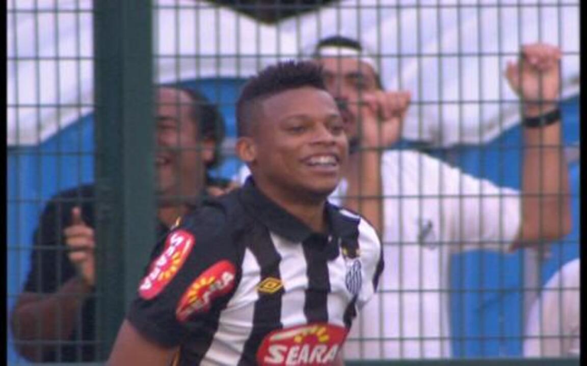 Gol do Santos! Ganso cruza e André empata, aos 12 do 2º tempo