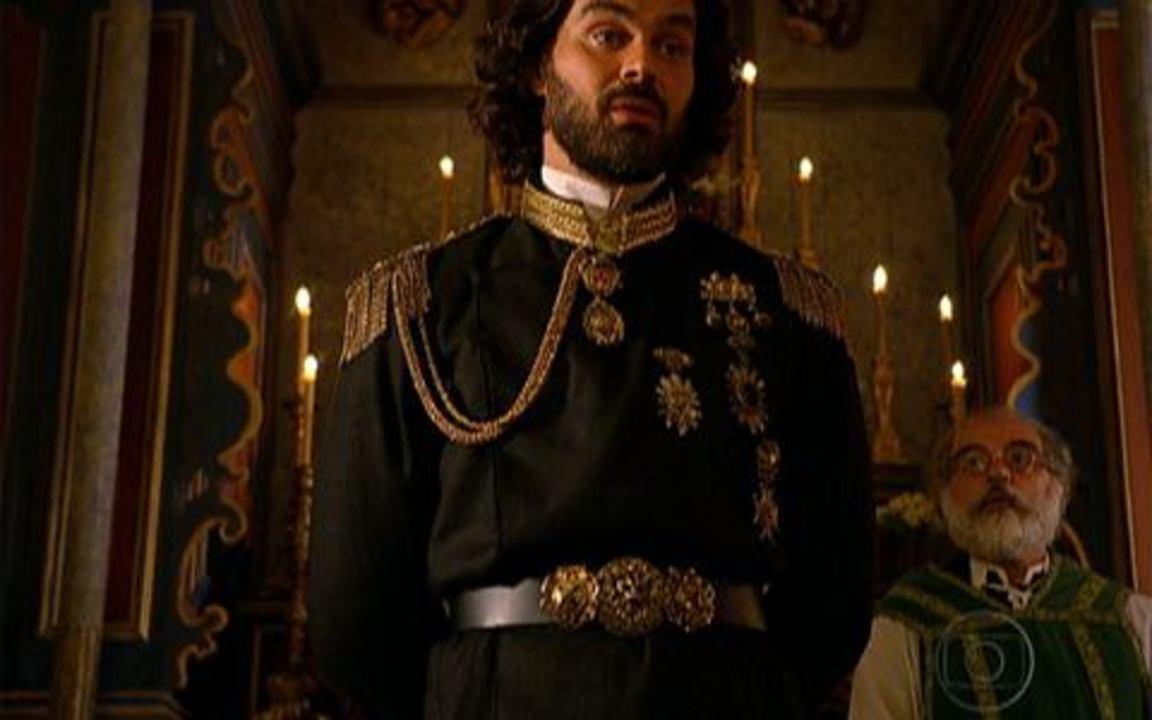 Capítulo de 15/04/2011 - Herculano mostra ao rei onde enterrou a rainha. Augusto desconfia de Úrsula e Nicolau. Maria Cesária impressiona muito o rei. Augusto anuncia que procura sua filha.