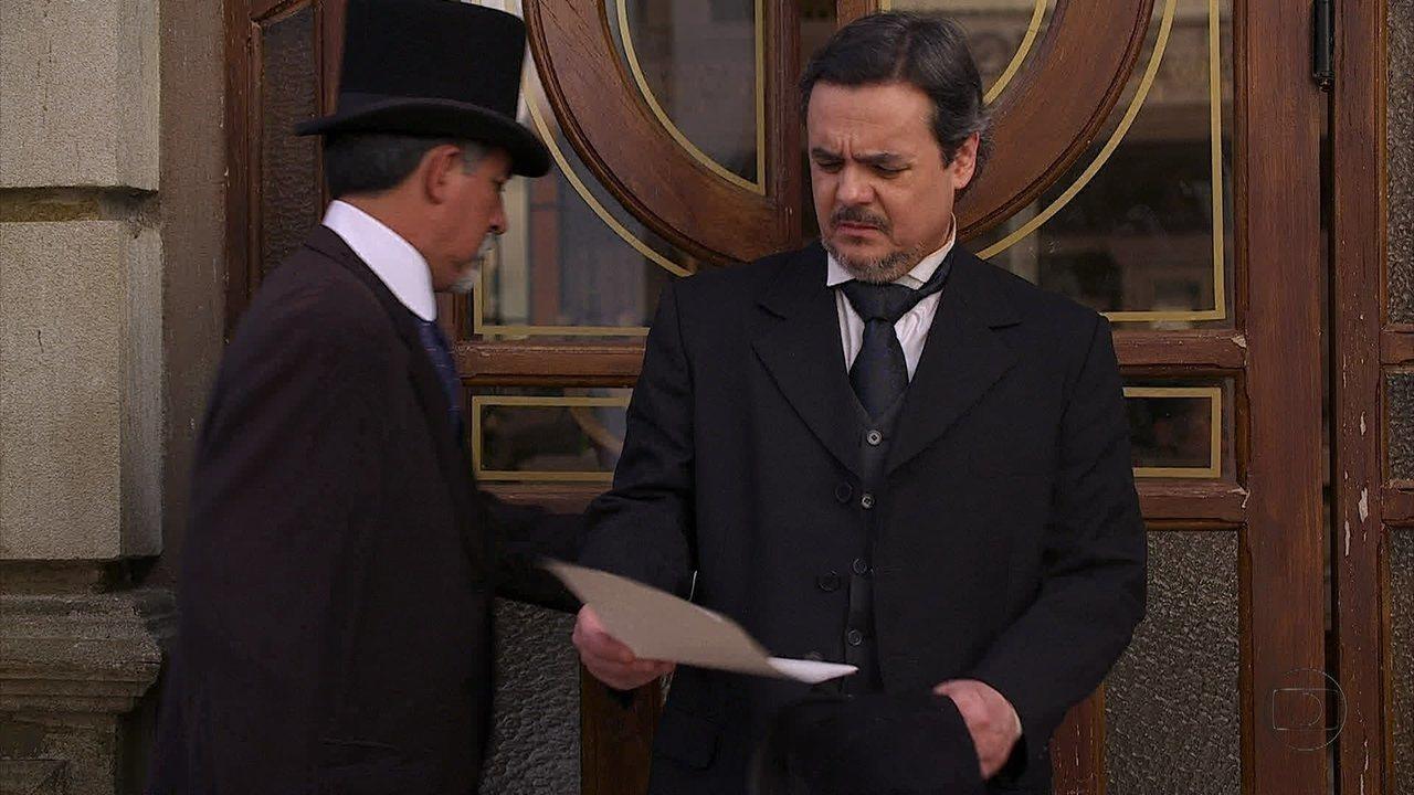 Lado a Lado, capítulo de sábado, dia 20/10/012, na íntegra - Laura pede para Isabel aceitar a ajuda de Albertinho