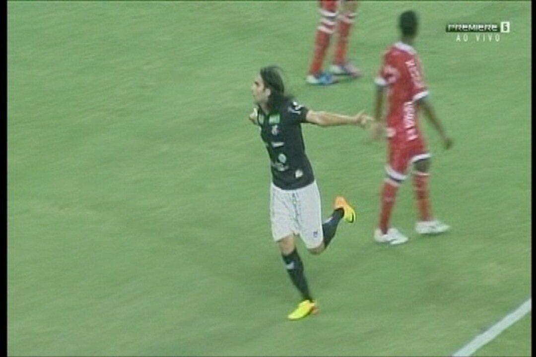 GOL DO CEARÁ!!! Aos 19` do 1T, Léo Gamalho marca o segundo gol no jogo
