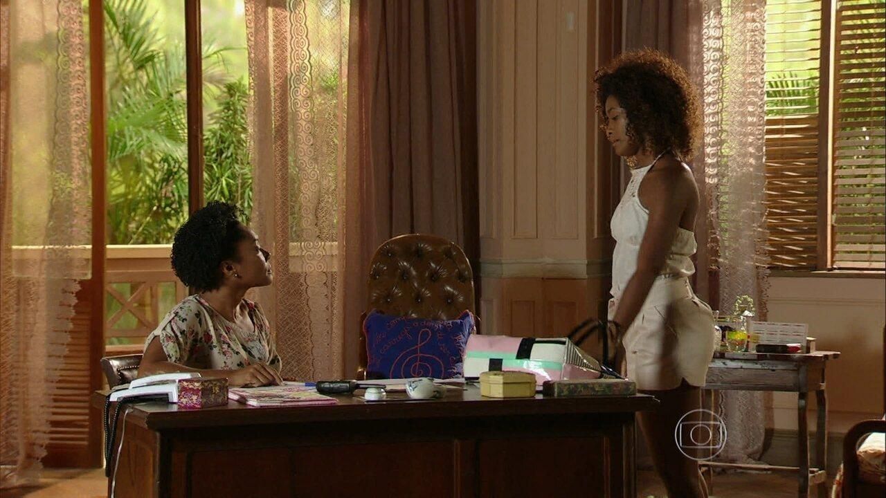 Em Família - Capítulo de quarta-feira, dia 16/04/2014, na íntegra - Alice diz a Luiza que gostaria de conhecer o homem que violentou sua mãe