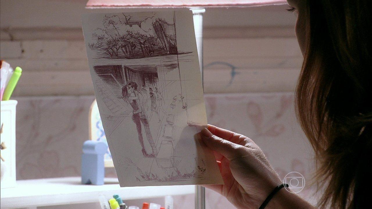 Malhação - Capítulo de quinta-feira, dia 15/05/2014, na íntegra - Anita recebe mais um desenho misterioso