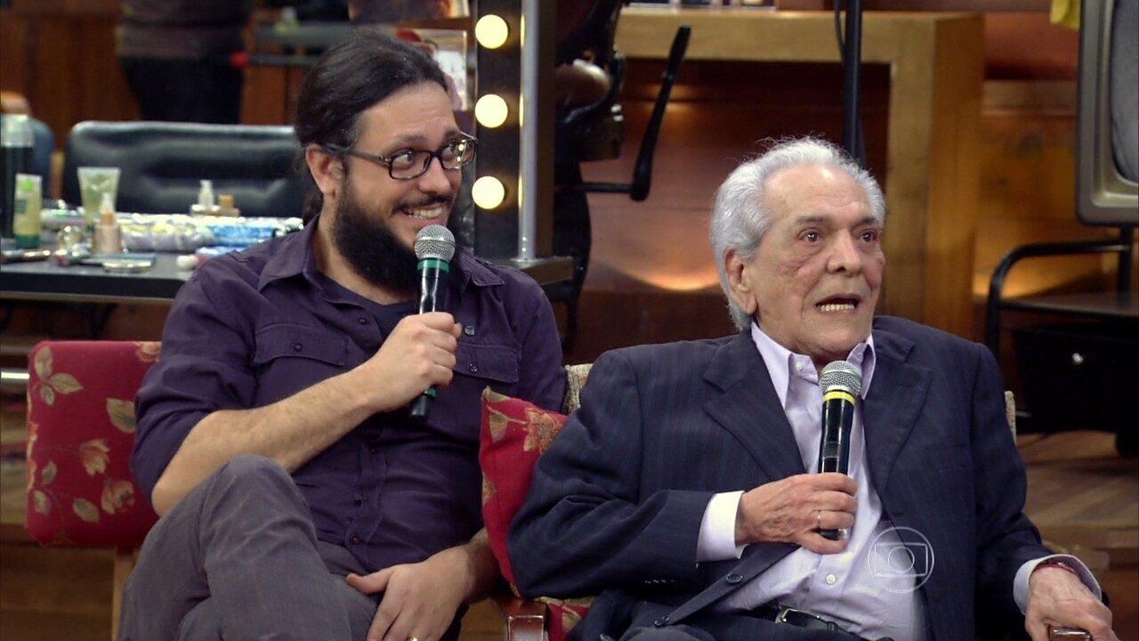 Lucio Mauro declarou ser fã do filho, em participação no 'Vídeo Show'