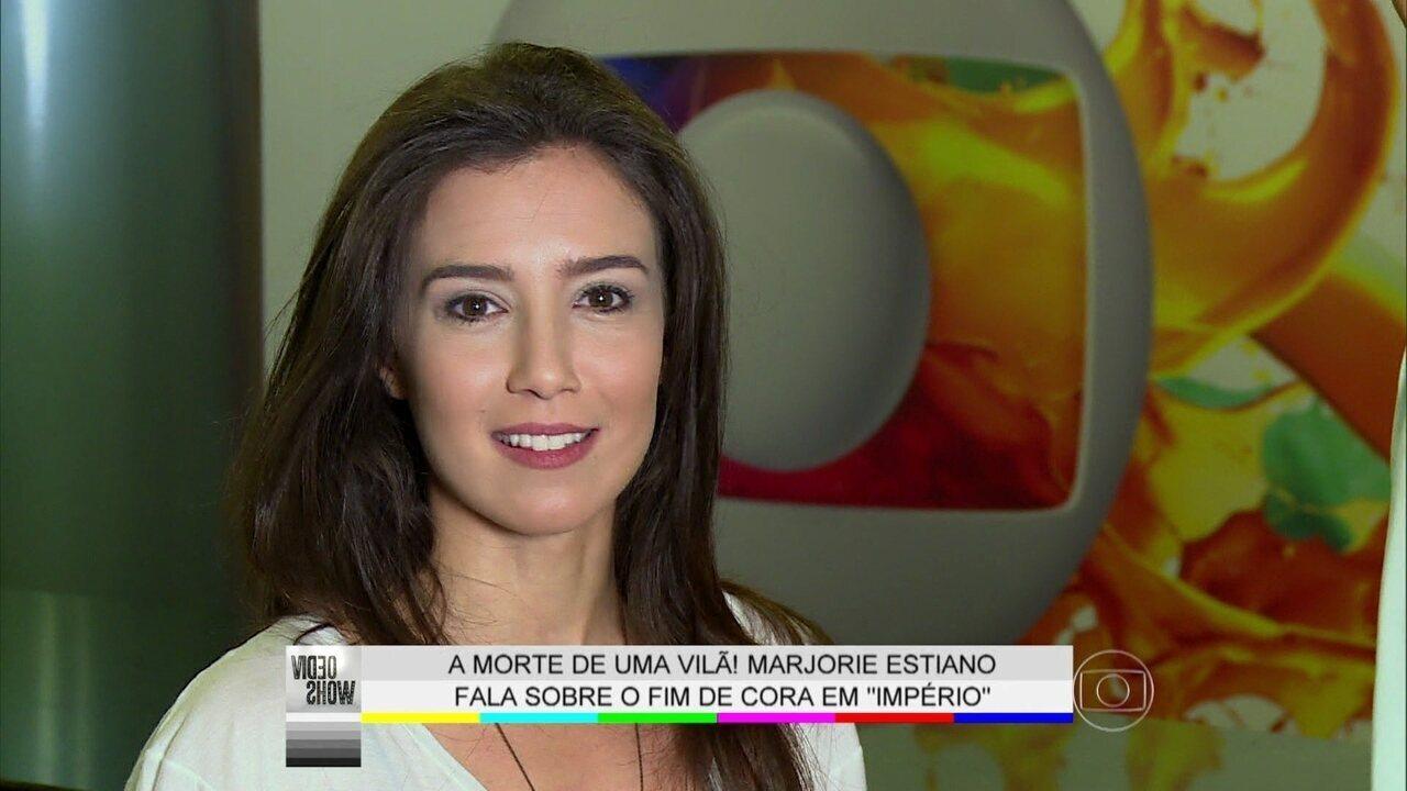 Marjorie Estiano relembra substituição de Drica Moraes como Cora em 'Império'