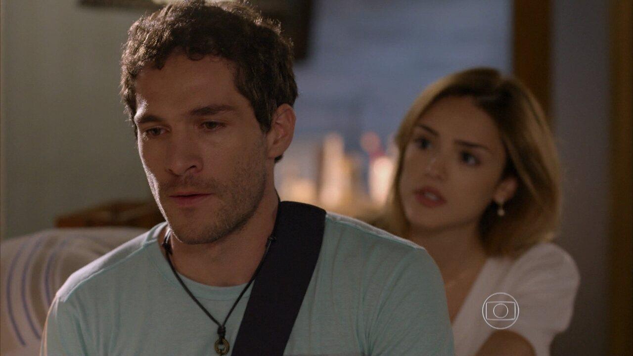 Sete Vidas - Capítulo de segunda-feira, dia 06/07/2015, na íntegra - Felipe discute com Júlia e sai de casa