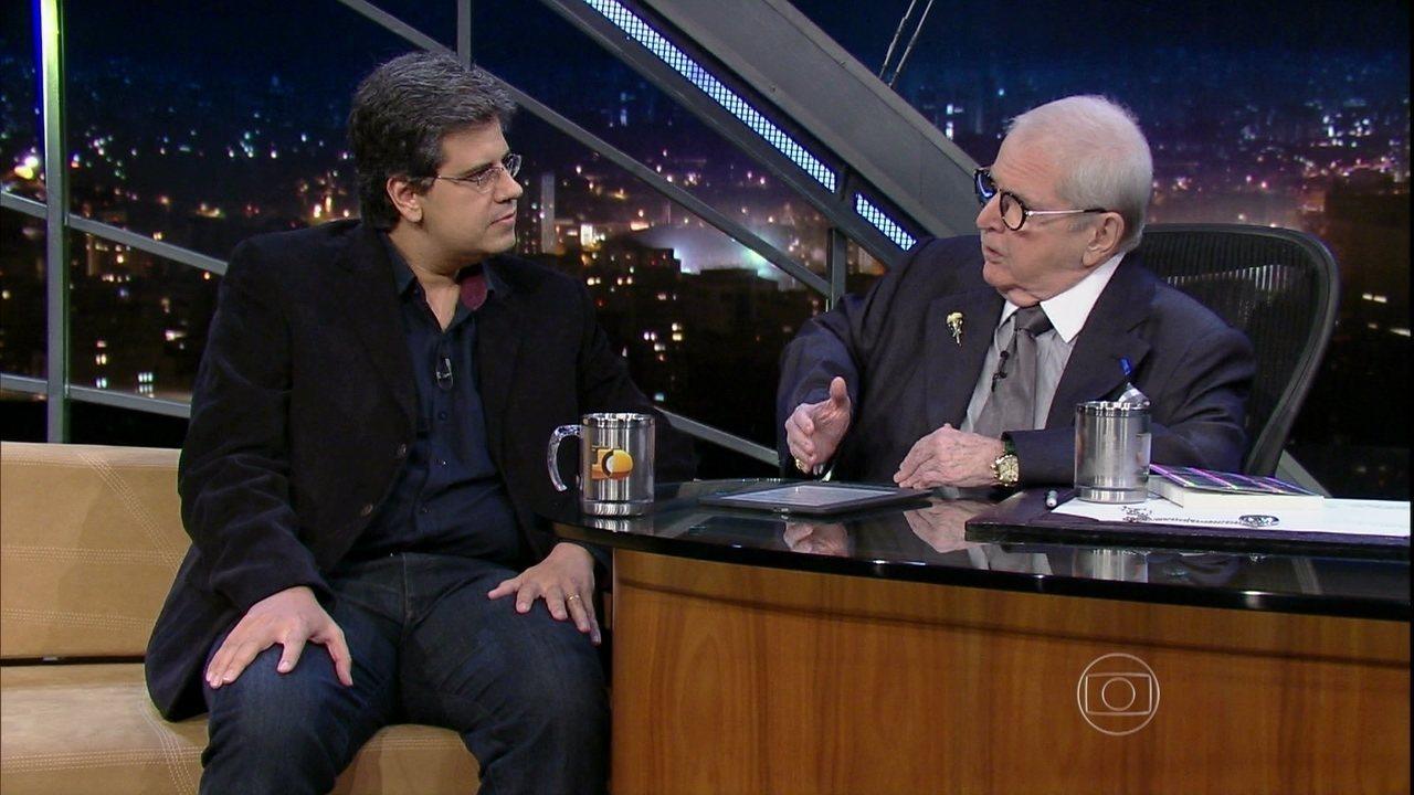 Jô Soares entrevista o jornalista Salvador Nogueira em 17 de julho de 2015.