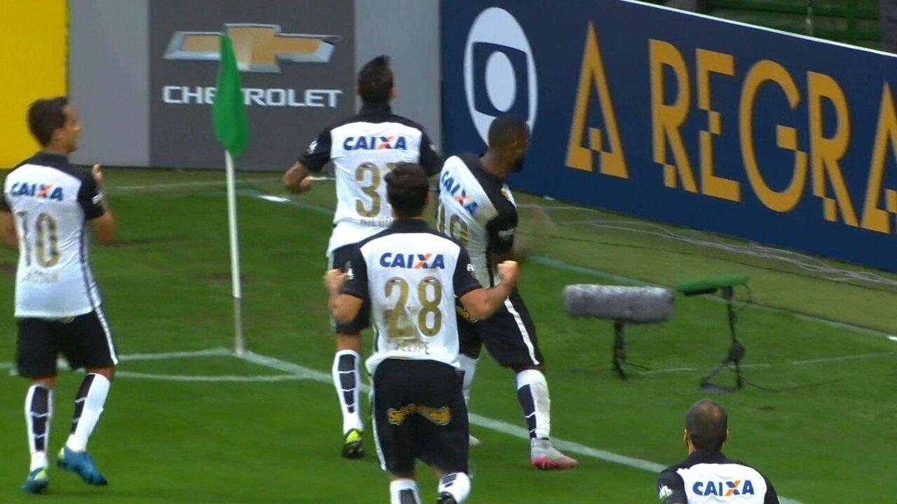 Gol do Corinthians! Vagner Love empata, de cabeça aos 33' do 2º Tempo