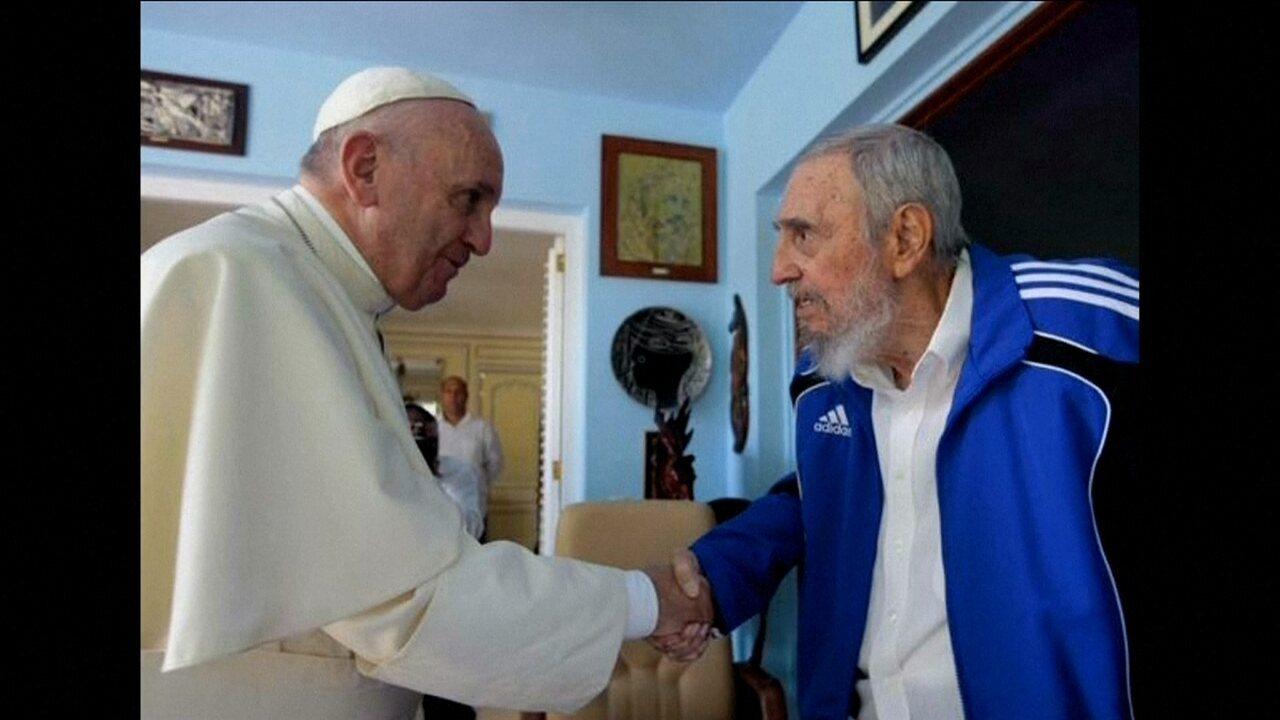 Papa Francisco se encontra com Fidel Castro e Raúl Castro, em Havana