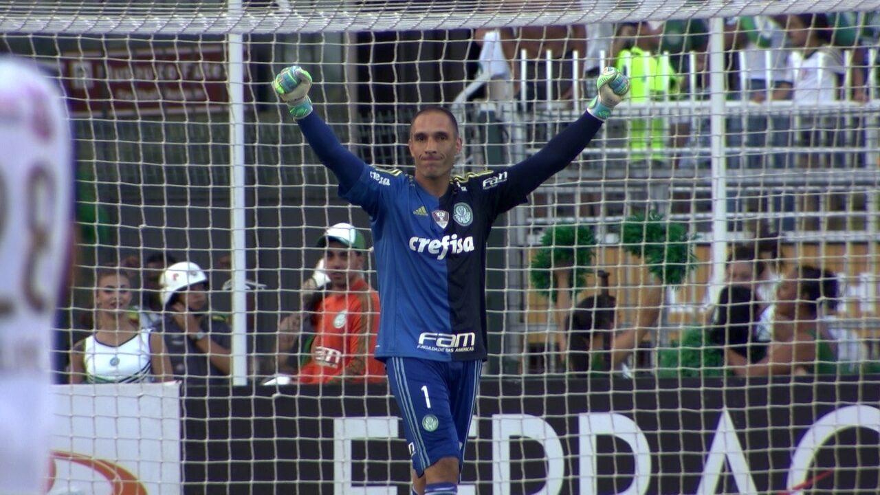 Só Fernando Prass! As reações do goleiro desde o pênalti defendido até o gol