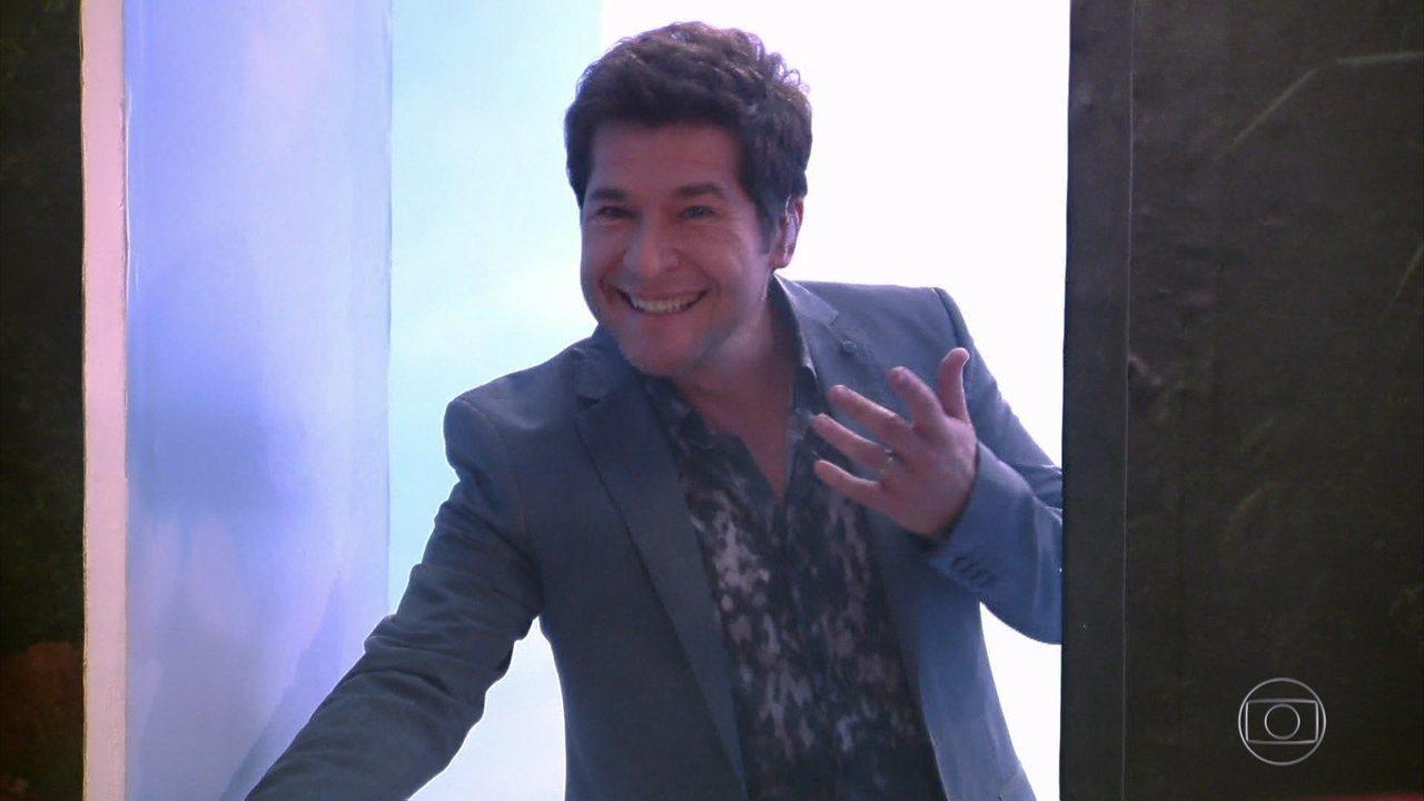 Daniel se emociona em quadro 'Visitando o Passado'