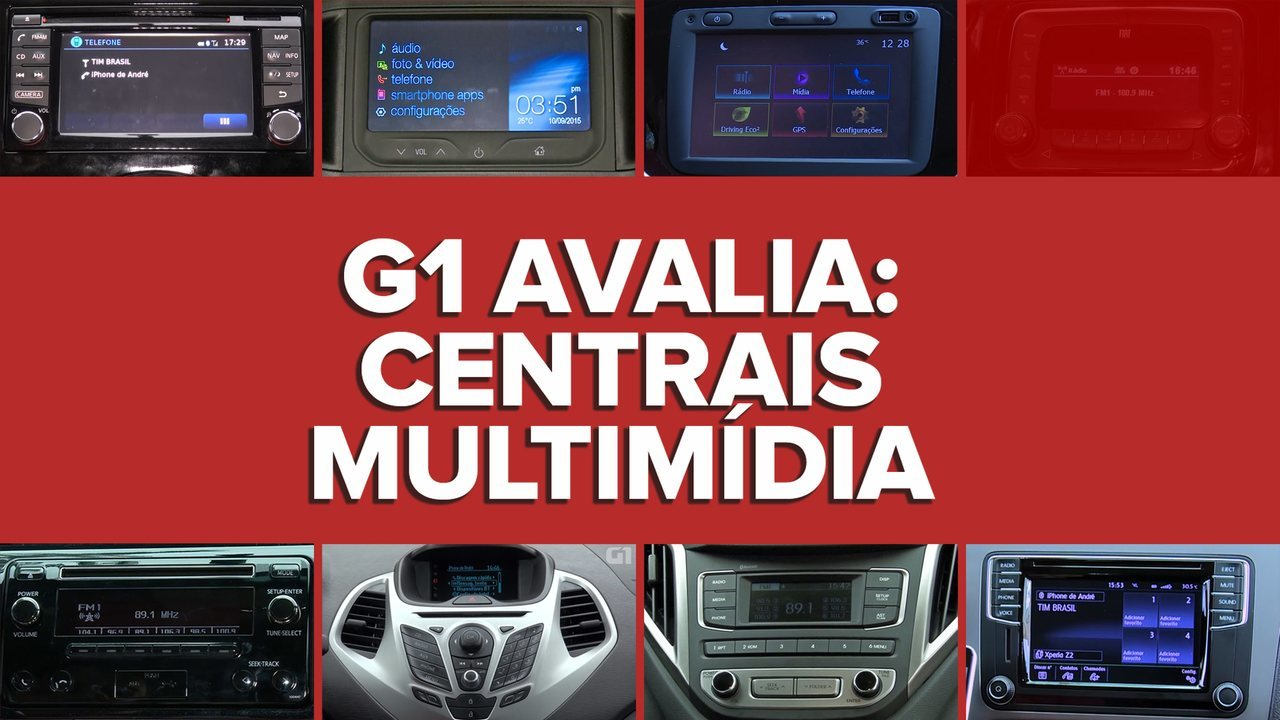G1 avalia centrais multimídia de carros zero até R$ 50 mil