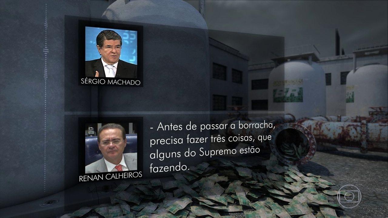 Conversas entre Sérgio Machado e Renan Calheiros são divulgadas