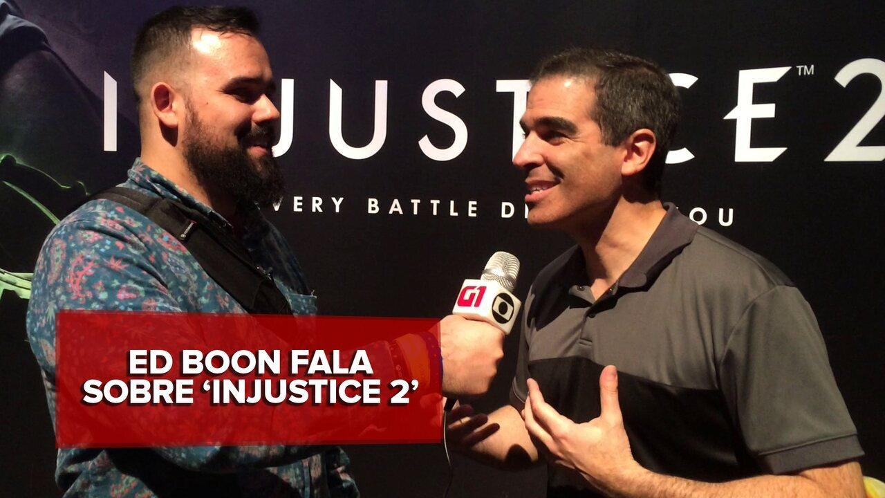 G1 na E3 Ed Boon co-criador de'Mortal Kombat, fala sobre novo game'Injustice 2