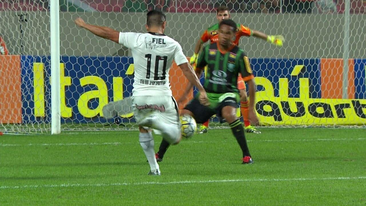 Melhores momentos de América-MG 0 x 2 Corinthians pela 12ª rodada do Campeonato Brasileiro