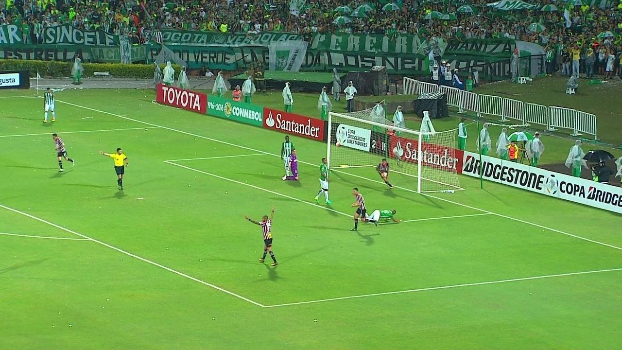 Os gols de Atlético Nacional 2 x 1 São Paulo, pela Libertadores